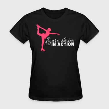 Action Figure Figure Skater on Action - Women's T-Shirt
