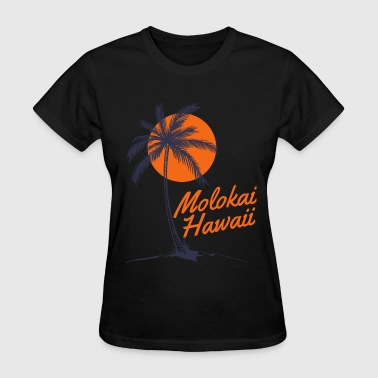 Palm Tree Sun Beach Molokai Hawaii - Women's T-Shirt