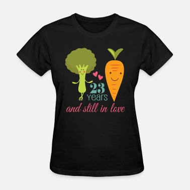 Celebrating 23 Years 23rd Anniversary 23 Years in Love - Women's T-Shirt