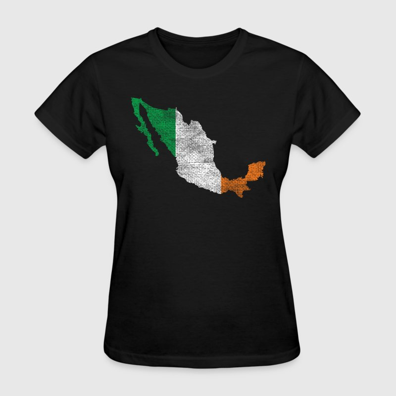 Mexico Mexican Irish Ireland Flag - Women's T-Shirt
