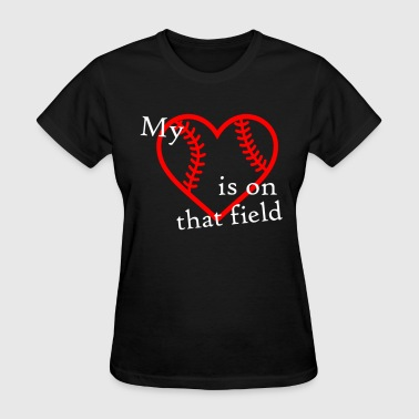 Baseball My Heart Shirt - Women's T-Shirt
