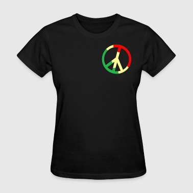 Rasta Peace Rasta Peace Sign - Women's T-Shirt
