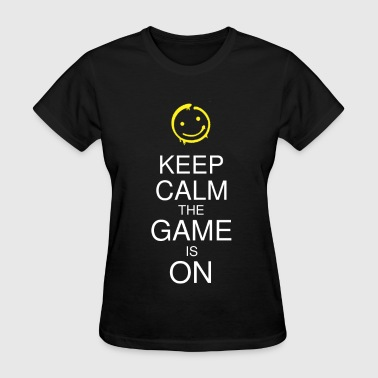 Keep Calm the Game is On (Smile) Men's - Women's T-Shirt