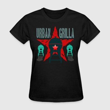 Urban Grilla BBQ, barbecue chef / cook 2 - Women's T-Shirt