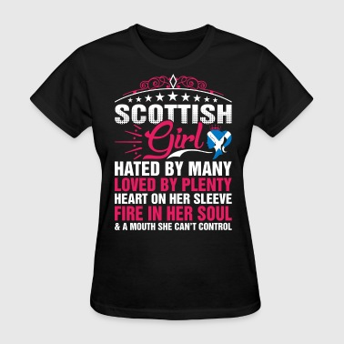 Scottish Girl Cant Control - Women's T-Shirt
