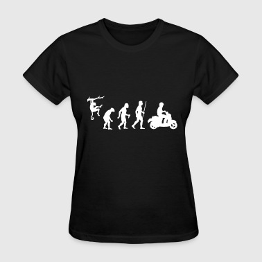 Scooter - Evolution of Man and Scooter - Women's T-Shirt