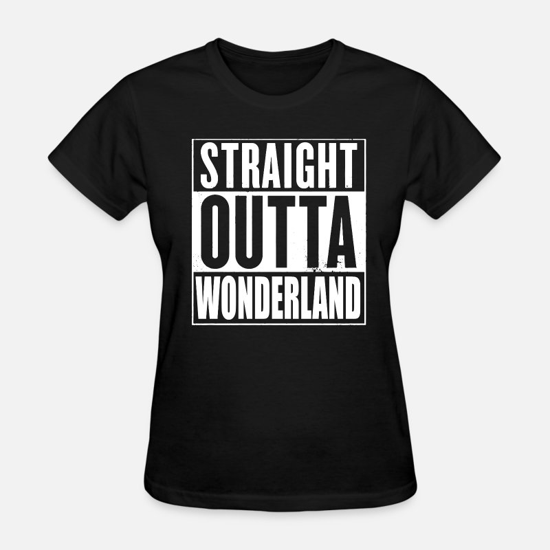 Alice T-Shirts - Straight Outta Wonderland Alice Design - Women's T-Shirt black