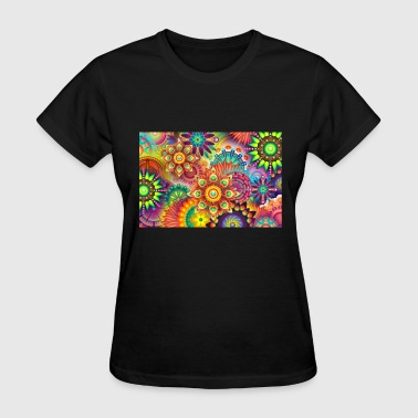 Background Color colorful abstract background - Women's T-Shirt
