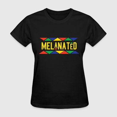 Melanated (Yellow Letters) - Women's T-Shirt
