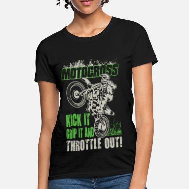 aa3a3d50 Dirt Bike Girl Dirt Bike Throttle Out - Women's T-Shirt