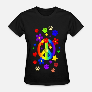 Peace Sign PEACE & PAWS - Women's T-Shirt