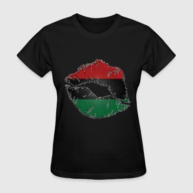 Red, black, green lips - Women's T-Shirt