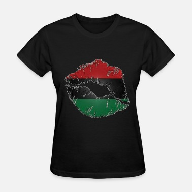 African Pride Red, black, green lips - Women's T-Shirt