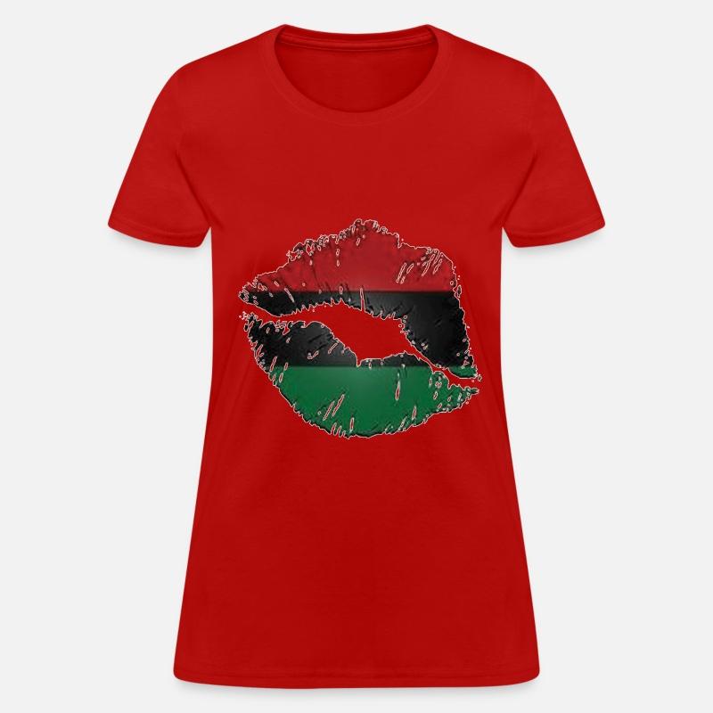 ... red black green lips women s t shirt spreadshirt ... cd88f7012