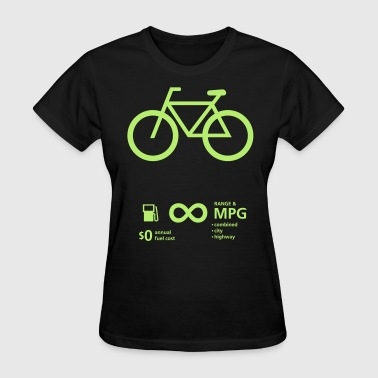 Bike Symbol Bicycle Fuel Economy - Women's T-Shirt