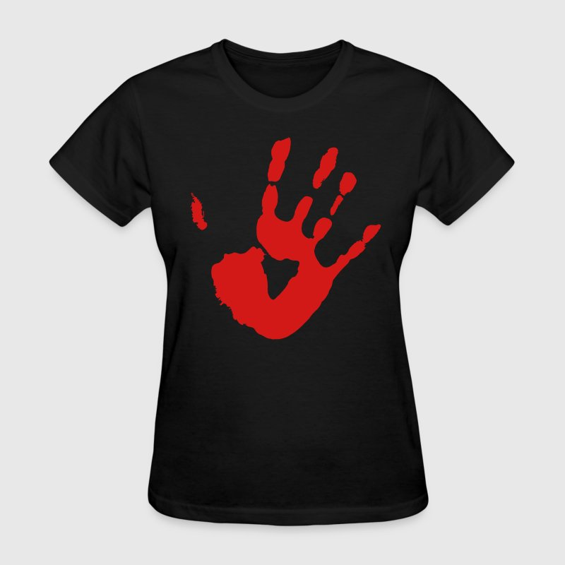 Bloody Hand Print - VECTOR - Women's T-Shirt