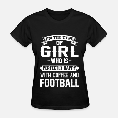 Stickman Muscle-t she is happy with coffee and football - Women's T-Shirt
