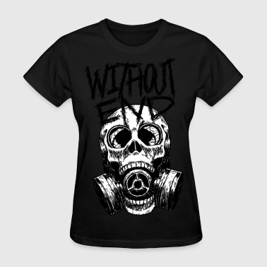 SkullMask GasMask Black and White - Women's T-Shirt