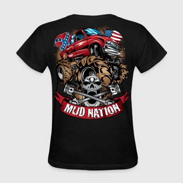 Mud Sports Mud Truck Cartoon Nation - Women's T-Shirt
