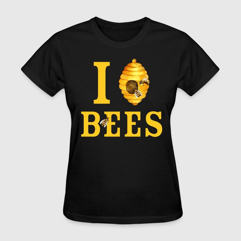I Love Bees - Women's T-Shirt