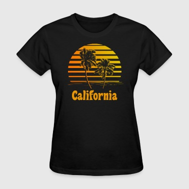 California Sunset Palm Trees - Women's T-Shirt