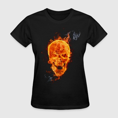 cranium in Fire - Women's T-Shirt