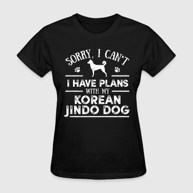 Korean Jindo Dog Owner Cool Dog Gift Idea - Women's T-Shirt