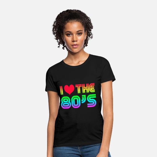 80s T-Shirts - I Love the 80s Gaming - Women's T-Shirt black