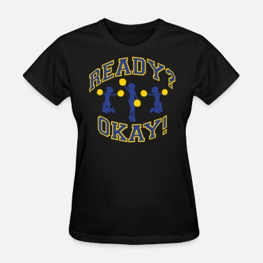 Changeable Color Cheer! Blue and Gold (Changeable Colors) - Women's T-Shirt
