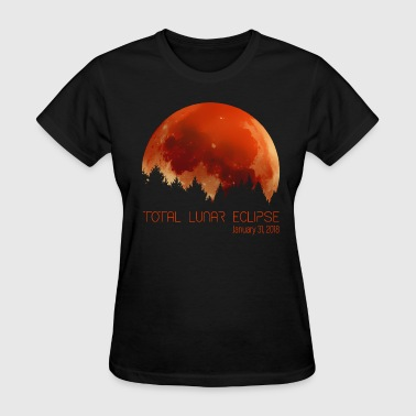 Total Lunar Eclipse Blood Moon - Women's T-Shirt