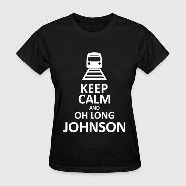 Kenny South Park Keep Calm and Oh Long Johnson (Black) - Women's T-Shirt