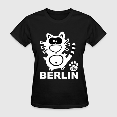 Ddr Berlin Catpaw Design Cat Cats DDR Berlin Party Fun - Women's T-Shirt
