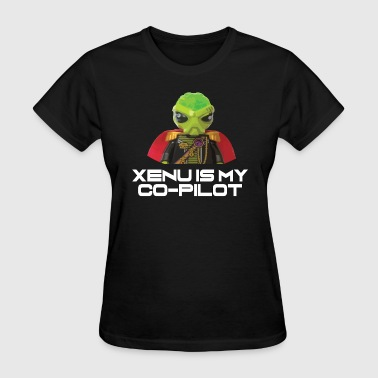 Xenu is my co-pilot - Women's T-Shirt