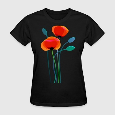 Poppy Flower Poppy Flowers - Women's T-Shirt