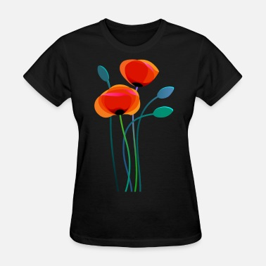 Poppy Flowers Poppy Flowers - Women's T-Shirt