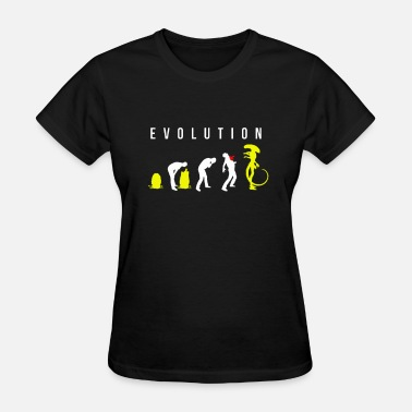 Evolution Evolution of Alien - Women's T-Shirt