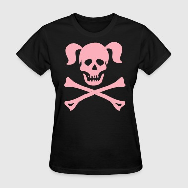 Halloween Girl Skull Crossbones - Women's T-Shirt