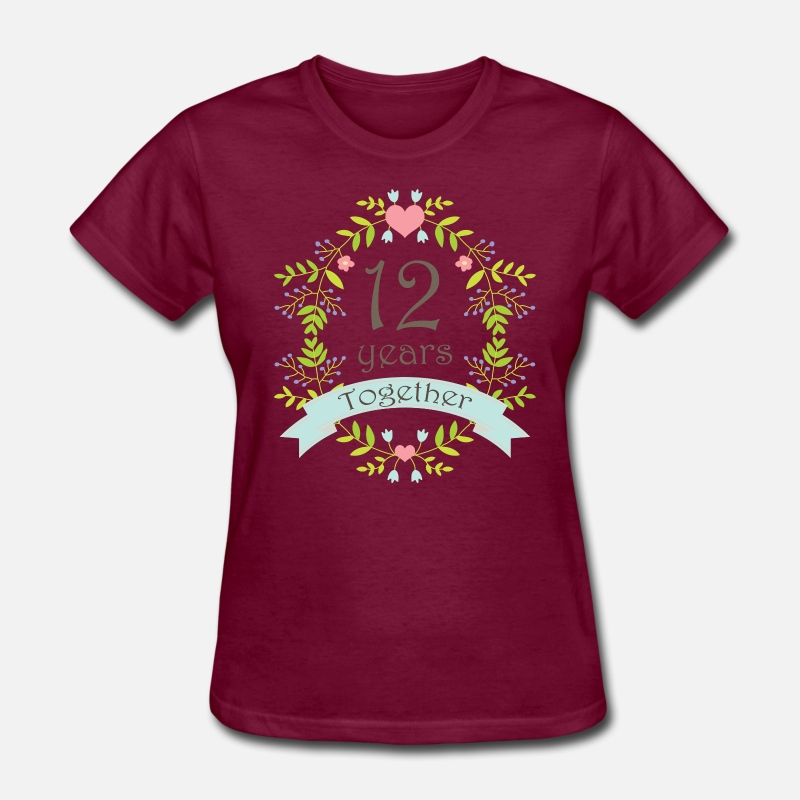 12th Wedding Anniversary Gift By Homewiseshopper Spreadshirt
