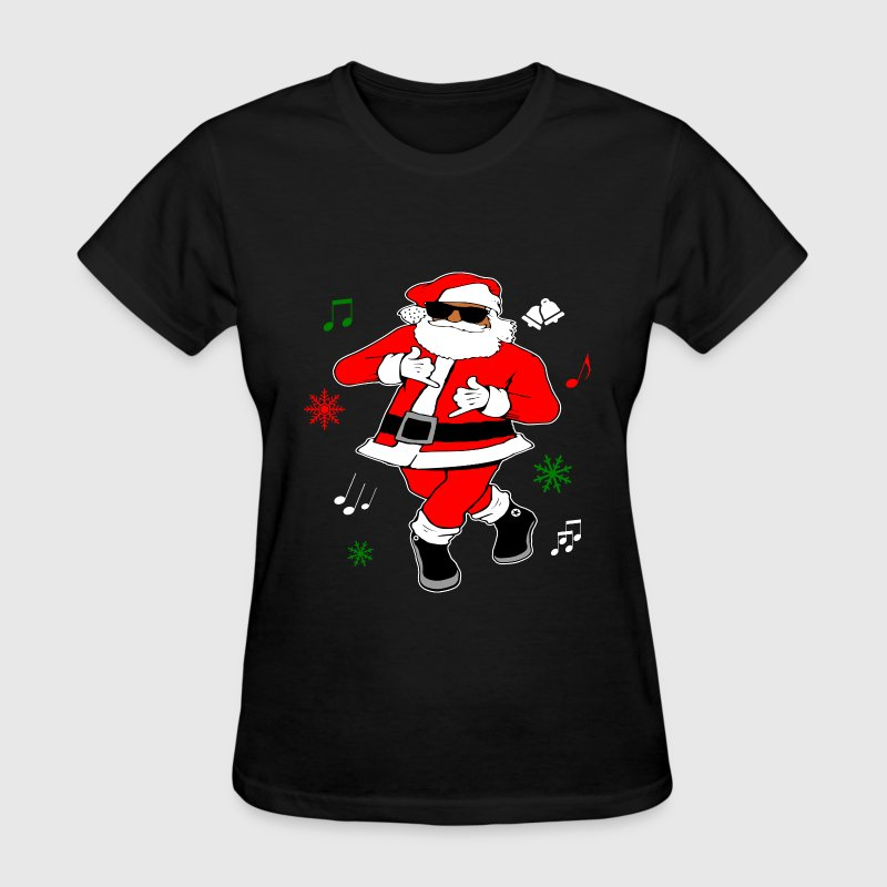 Black Santa Ju Ju Dance - Women's T-Shirt