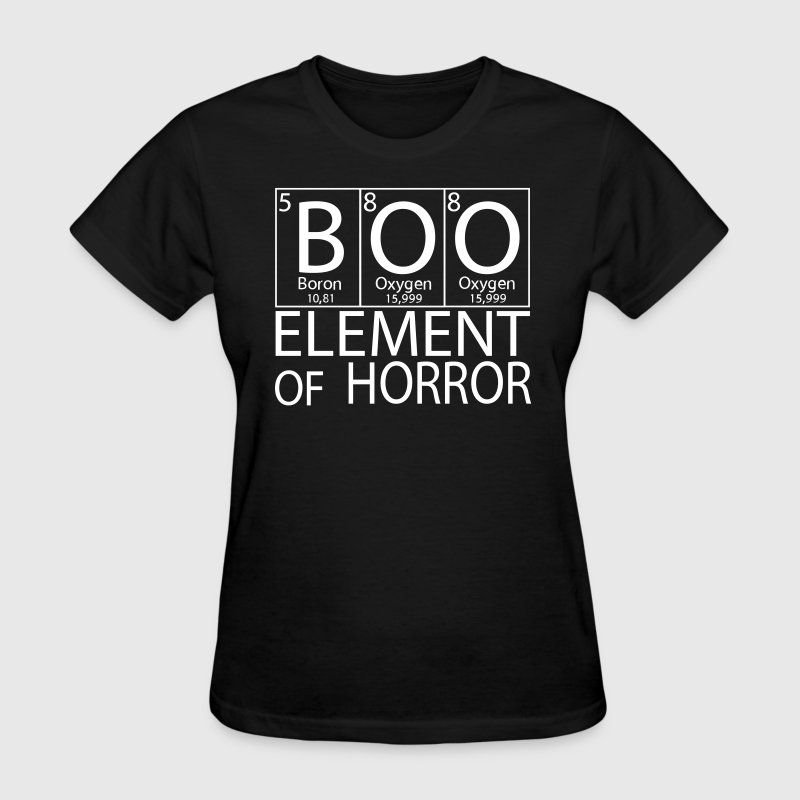 Halloween Periodic Table Boo Element Of Horror - Women's T-Shirt