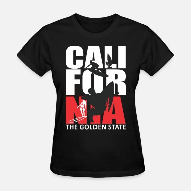 The Golden State California Surfing The Golden State - Women's T-Shirt
