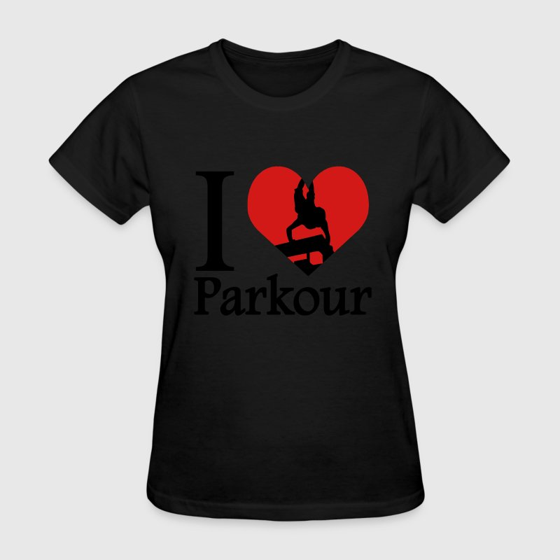 I love Parkour / I heart Parkour Traceur - Women's T-Shirt
