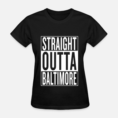 Fucked Red Heart straight outta Baltimore - Women's T-Shirt