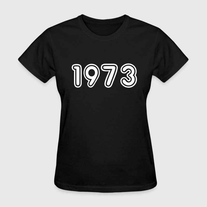 1973, Numbers, Year, Year Of Birth - Women's T-Shirt