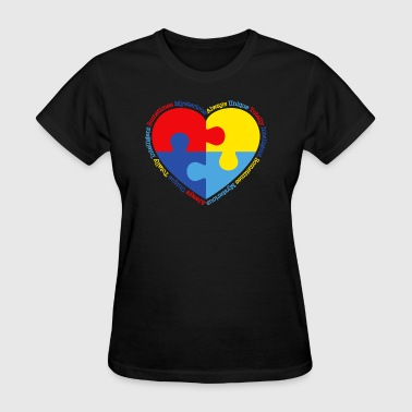 Autism Puzzle Heart - Women's T-Shirt