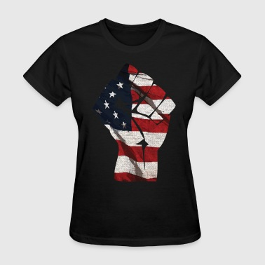 Usa Fists American Flag Fist Clothing Apparel Shirts USA - Women's T-Shirt