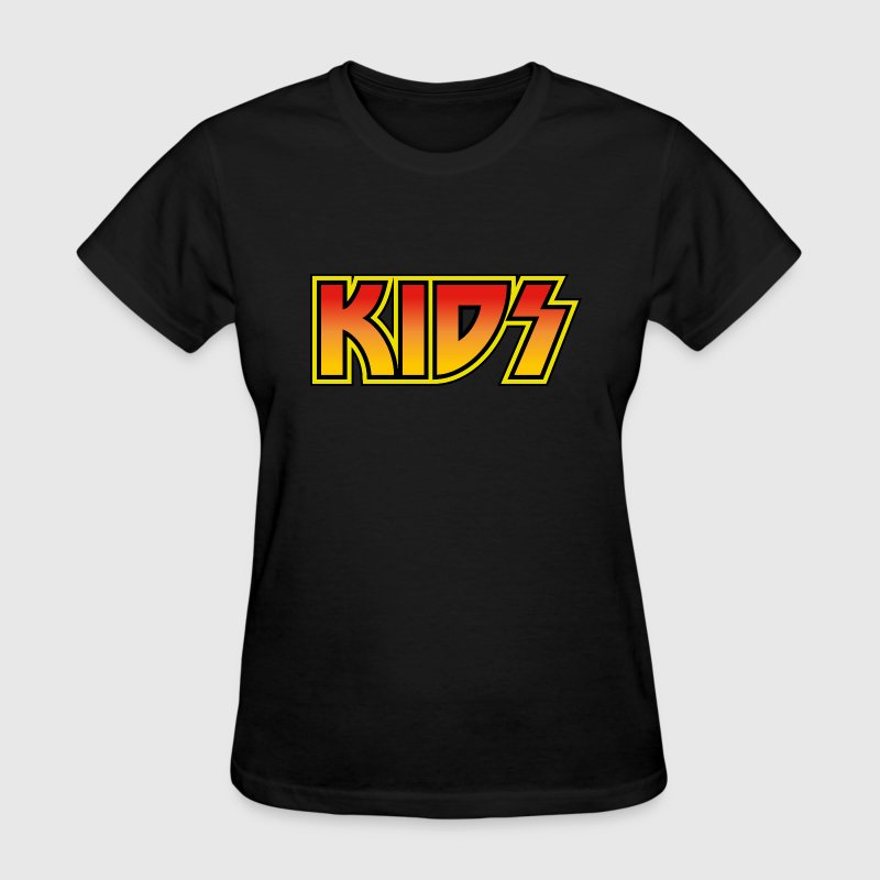 KIDS KISS vintage rock band design style - Women's T-Shirt