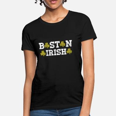 508 Boston Apparel Boston Irish Shamrocks Distressed Style - Women's T-Shirt