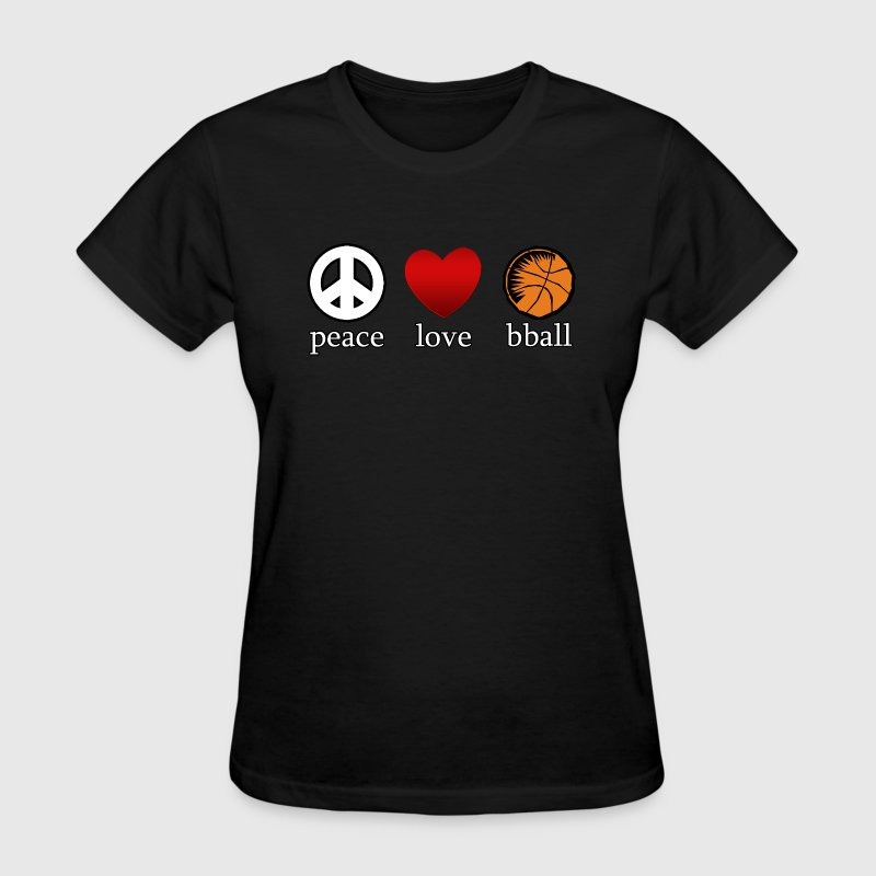 Peace Love Basketball  - Women's T-Shirt