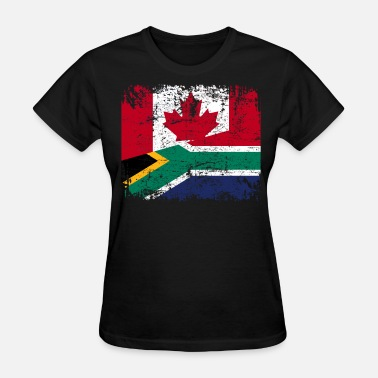 South Africa CANADA SOUTH AFRICA FLAG - Women's T-Shirt